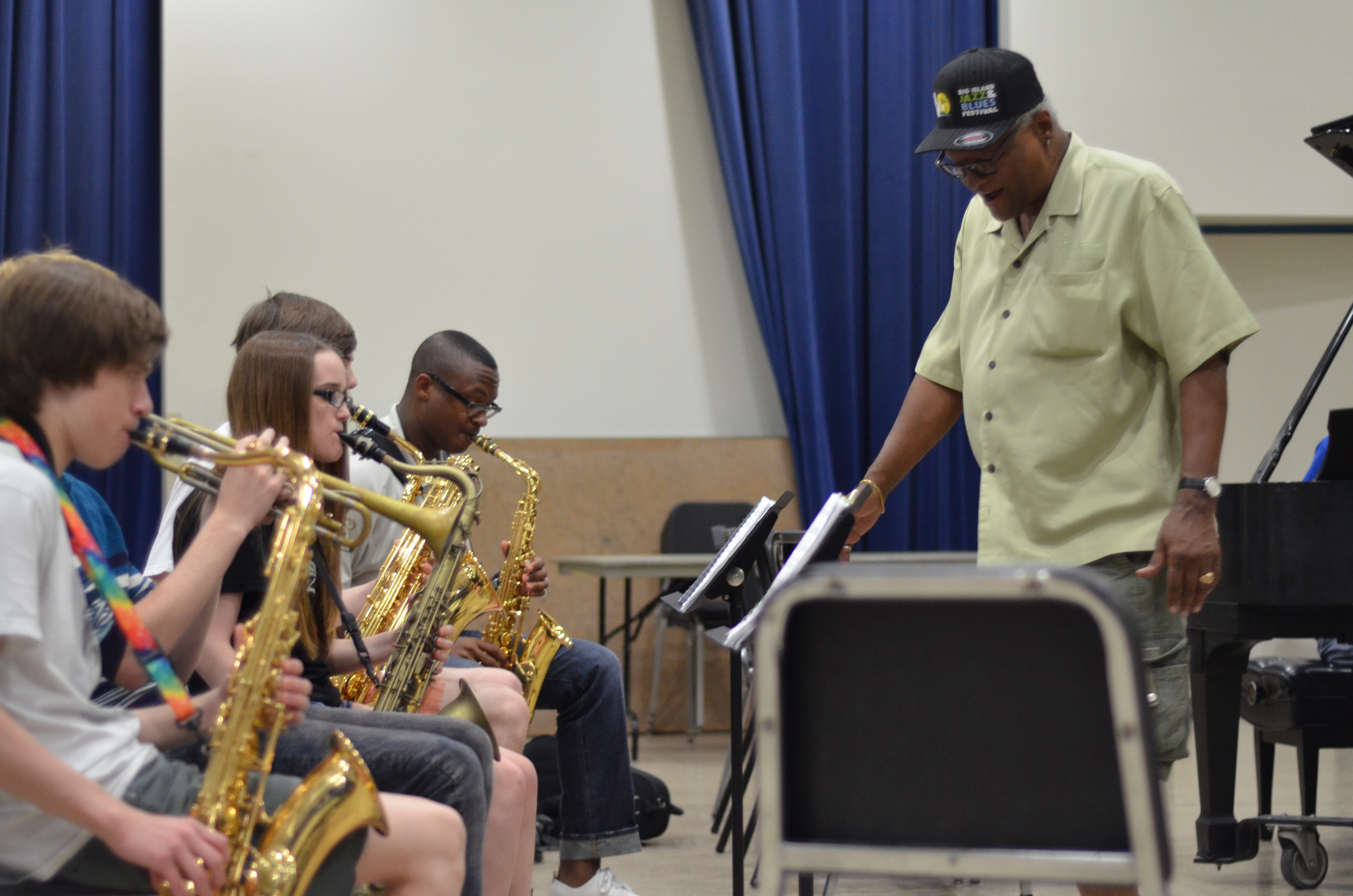 Jazz Camp participants in rehearsal