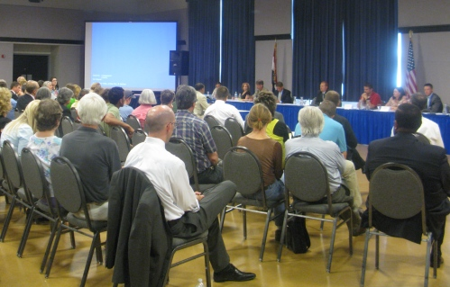 More than 80 people attended the Missouri Joint Committee on Urban Agriculture hearing, which AUP+D sponsored.