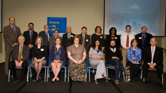"The recipients of the 2012 Faculty and Staff Awards have been announced. Representing 18 awards in outstanding achievements in teaching, research and service, the recipients were honored at UMKC's annual ""Celebration of Excellence"" on Monday, March 12."