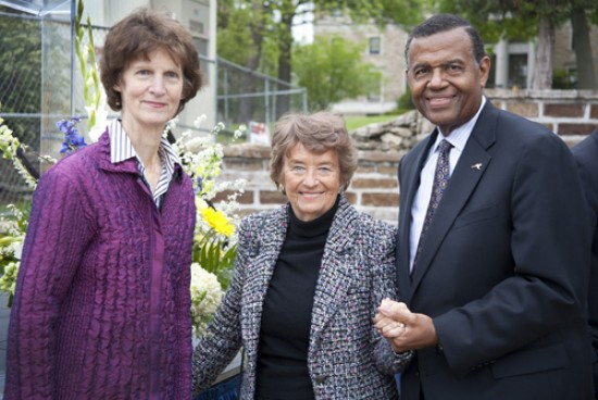 Kay Callison and Jeannette Nichols were welcomed by Chancellor Leo E. Morton