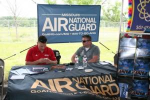 Missouri Air National Guard Booth (!)
