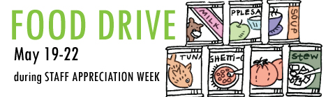 Food Drive for St. James Place during Staff Appreciation Week