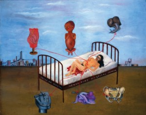 """Frida Kahlo, """"Henry Ford Hospital,"""" 1932. Image from Fickr"""